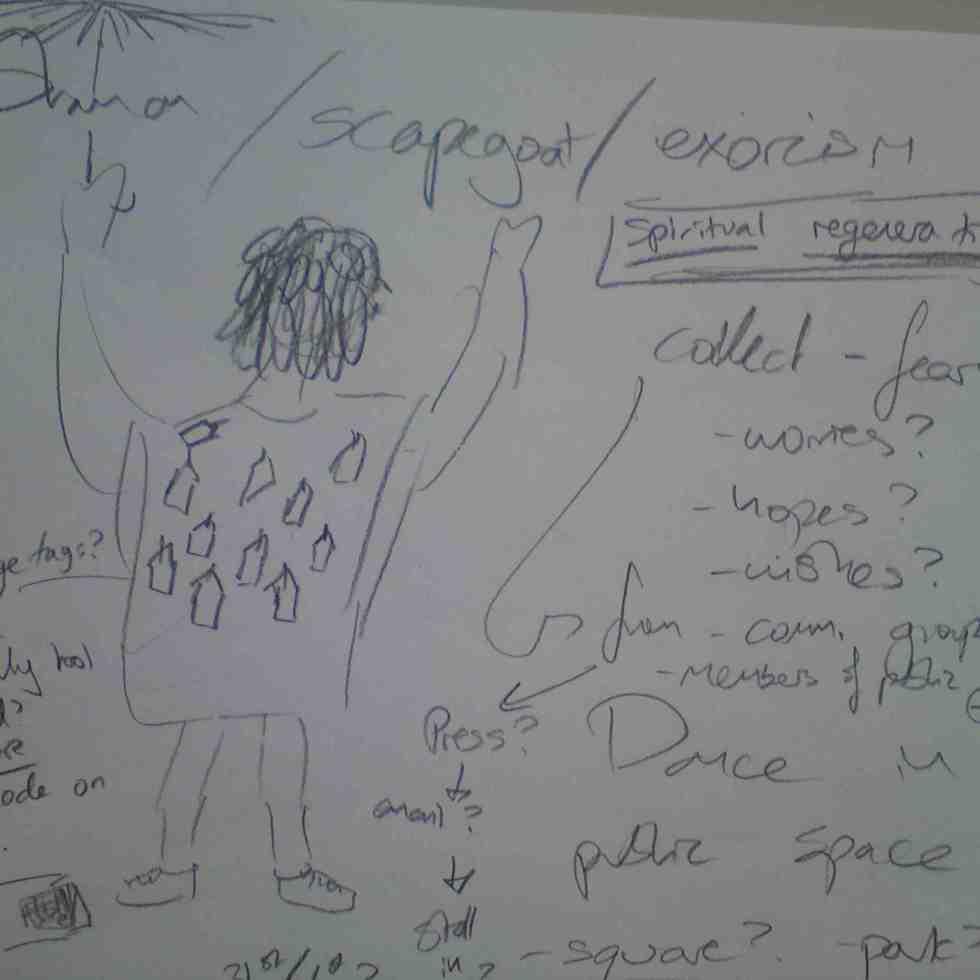 Sketch for Art Voodoo performance
